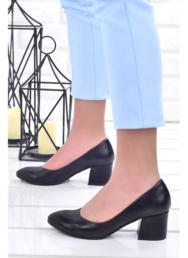 Ayakland Ayakland 97544-312 Cilt 5 Cm Topuklu Bayan Ayakkabı Siyah